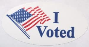 Even with electronic voting, physical stickers are still just as satisfying.