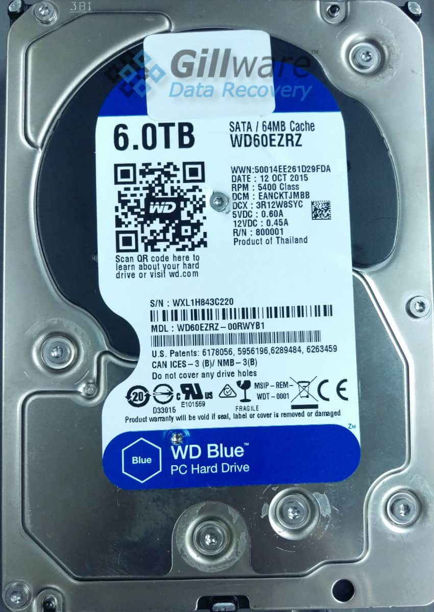 WD Blue hard disk drive failure