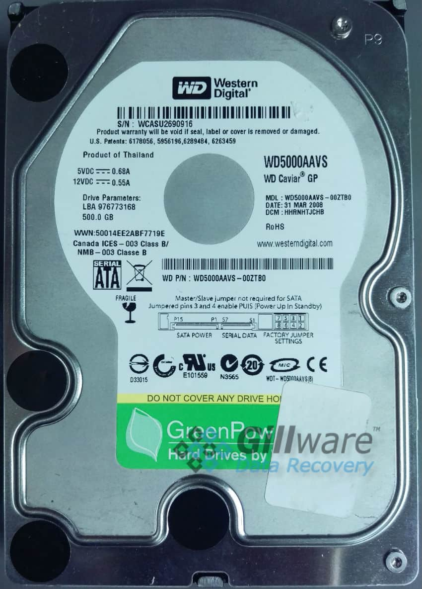 External hard drive repair