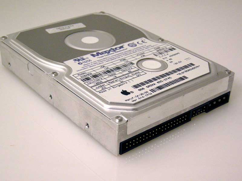 standard IDE interface hard drive