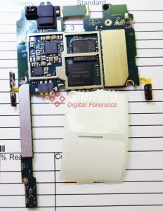 ZTE Prestige N9132 logic board with flash memory chips attached
