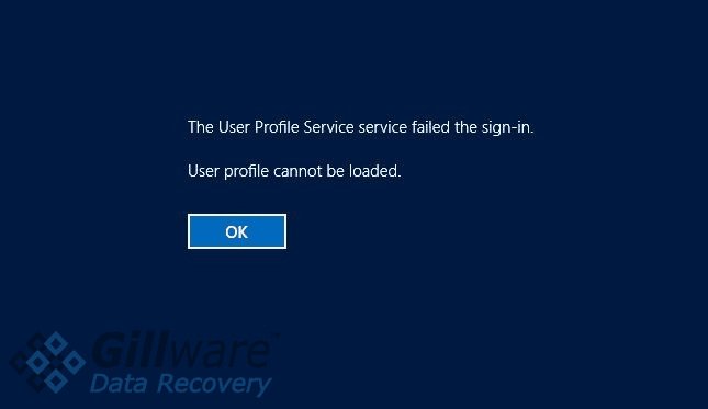 Corrupt user profile error Windows 10