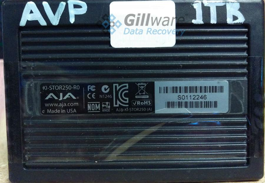 Our AJA data recovery experts took the hard drive out of this AJA Ki Pro storage module to recover its data.