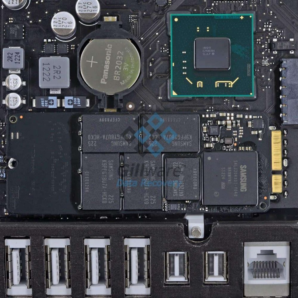"The SSD on a 21.5"" iMac's logic board"