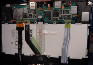 Samgung Galaxy Tab 4 disassembled