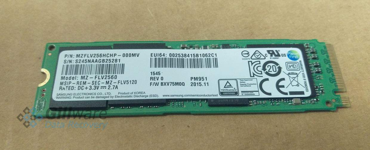 The PCI SSD our tablet data recovery expert needed to fix to solve our client's Microsoft Surface Pro 4 boot loop issue