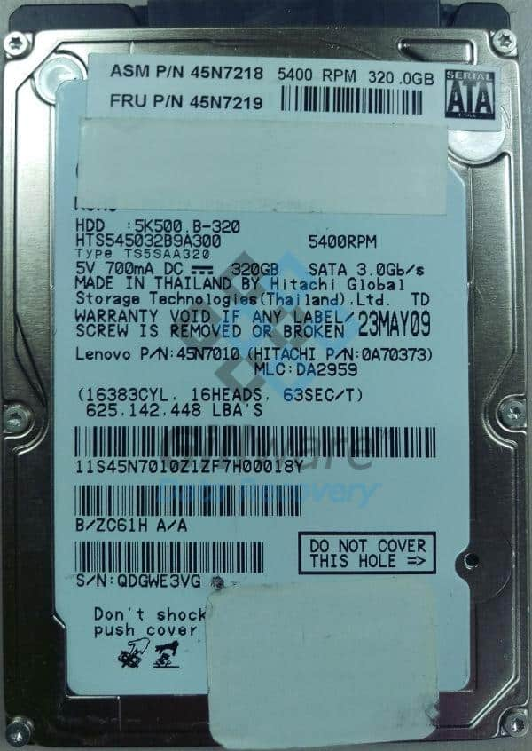 Hitachi hard disk repair