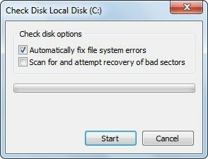 Check Disk Local Disk scanning