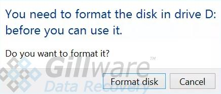 Uninitialized disk