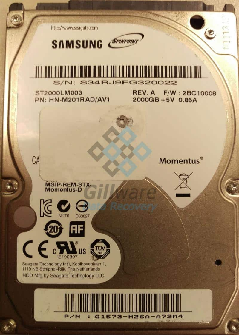 Damaged hard drive recovery