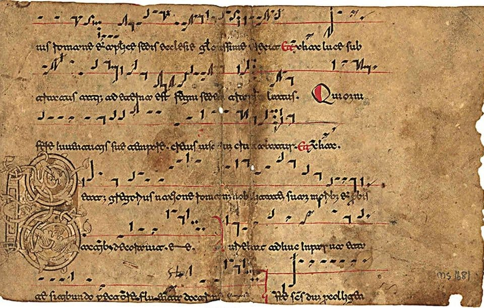 Beneventan music manuscript