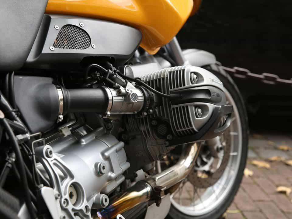 Closeup of motorcycle