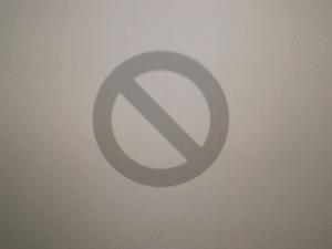 Mac Grey Screen Error 2: Folder with a prohibitory sign.
