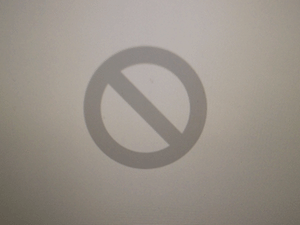 Mac Grey Screen Error 2: Folder with a prohibitory sign.