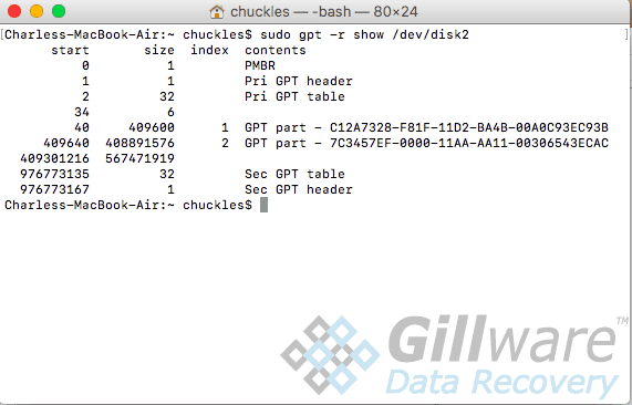 Repaired partition table with new APFS GUID