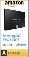 Samsung 860 EVO SSD - 500GB