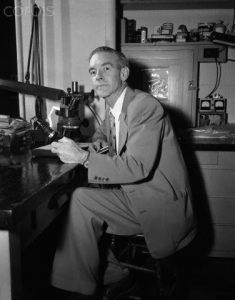 Portrait of Dr Paul Kirk in Laboratory