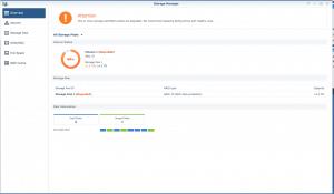 Synology storage pool diagnostic window