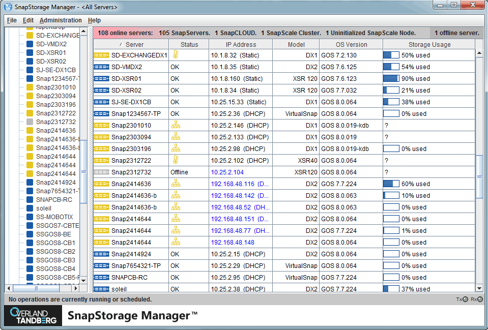 Example of SnapStorage Manager (SSM)