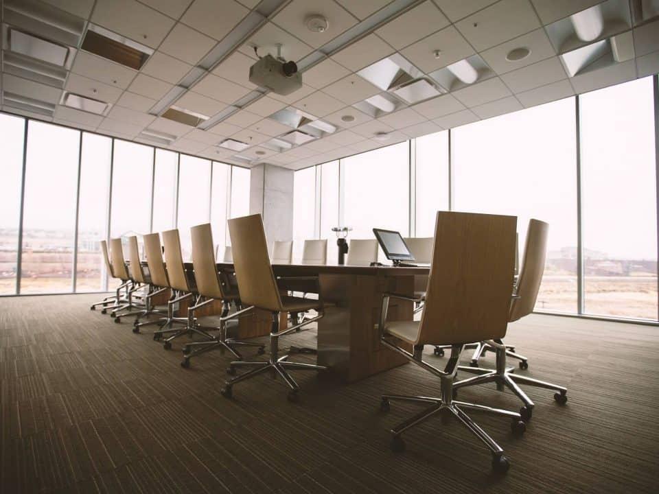 An empty boardroom