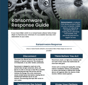 This is a screenshot of the Gillware Ransomware Response Guide